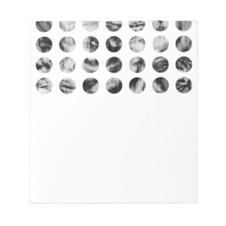 Black and White Tiger Polka Dots pattern Notepads