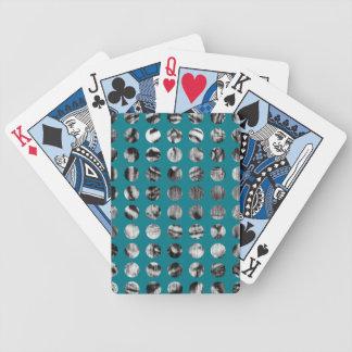 Black and White Tiger Polka Dots pattern Poker Deck