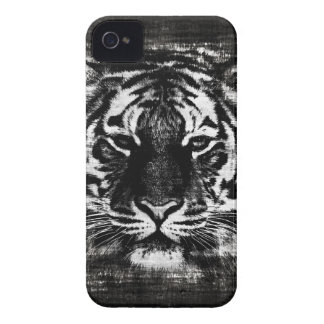 Black and White Tiger Vintage iPhone Case