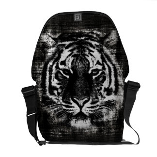 Black and White Tiger Vintage Messenger Bags