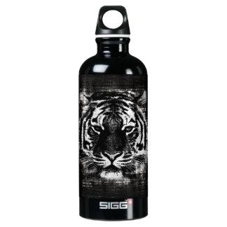 Black and White Tiger Vintage Water Bottle