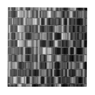 Black and White Tiled Mosaic Tile