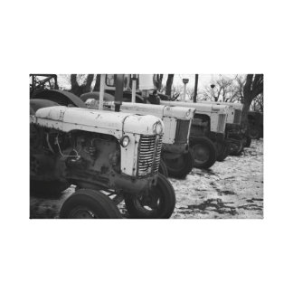 Black and white tractor canvas