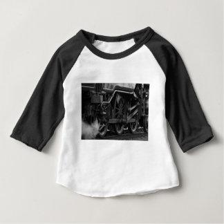 Black And White Train Baby T-Shirt
