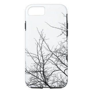 Black and White Tree Branches iPhone Case