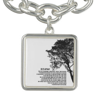 Black and White Tree Do It Anyway Bracelet