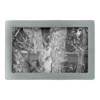 Black and White Tree Nature Photo Belt Buckle