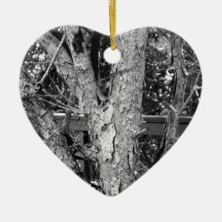 Black and White Tree Nature Photo Ceramic Ornament