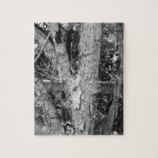 Black and White Tree Nature Photo Jigsaw Puzzle