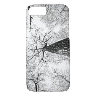Black and White Treeline Skyline Art Print iPhone 8/7 Case