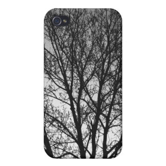 Black and White Trees iPhone 4 Cases