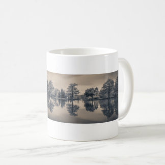 Black and White Trees Reflecting in Lake Coffee Mug