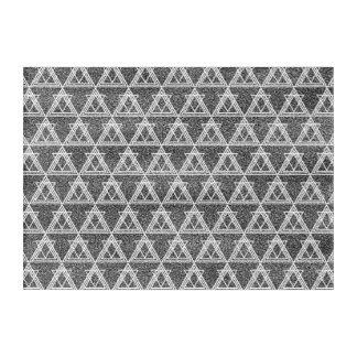 Black and White Triangle Geometric Pattern Acrylic Print