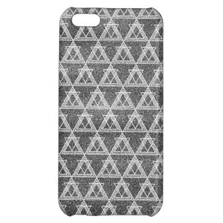 Black and White Triangle Geometric Pattern iPhone 5C Covers