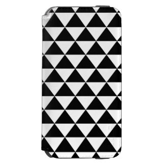 Black and White Triangle Pattern Incipio Watson™ iPhone 6 Wallet Case