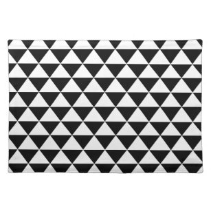black and white placemats. Black Bedroom Furniture Sets. Home Design Ideas