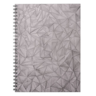black and white Triangles Spiral Notebooks