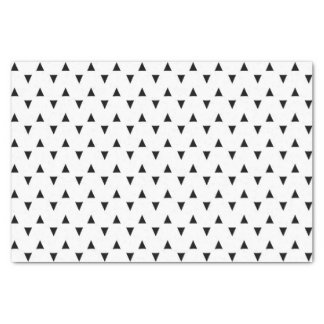 Black and White Triangles Tissue Paper