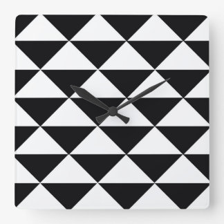 Black and White Triangles Wallclock