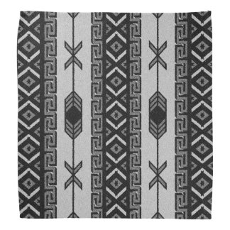 Black And White Tribal Aztec Pattern Bandanna