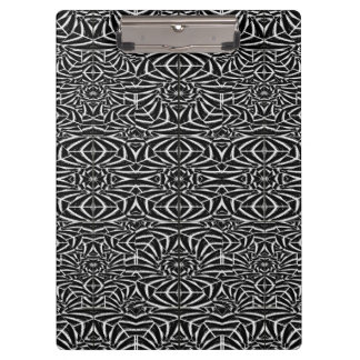 Black and White Tribal Pattern Clipboard