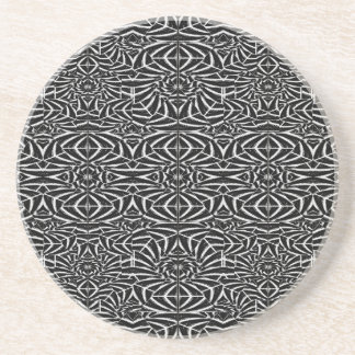 Black and White Tribal Pattern Coaster