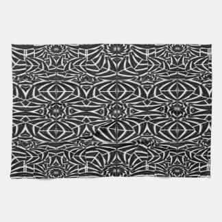 Black and White Tribal Pattern Hand Towels