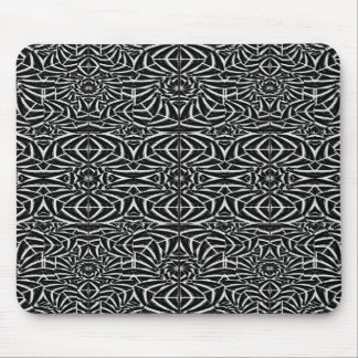 Black and White Tribal Pattern Mouse Pad