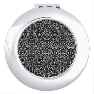 Black and White Tribal Pattern Vanity Mirror