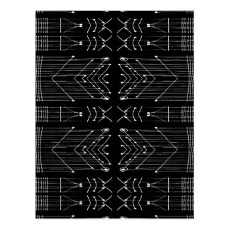 Black and White Tribal Postcard