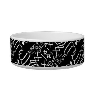 Black and White Tribal Stripes Bowl