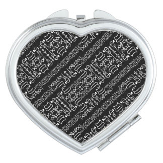 Black and White Tribal Stripes Compact Mirrors