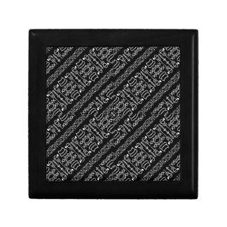 Black and White Tribal Stripes Gift Box