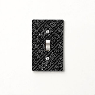 Black and White Tribal Stripes Light Switch Cover