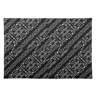 Black and White Tribal Stripes Placemat