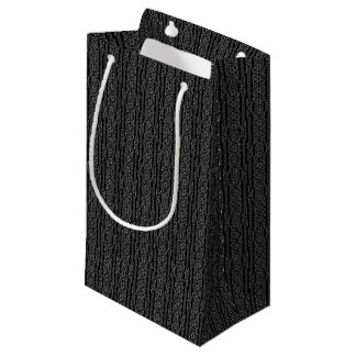 Black and White Tribal Stripes Small Gift Bag