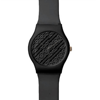 Black and White Tribal Stripes Watch