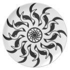 Black And White Tribal Sun Southwest Plate