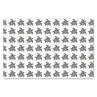 Black and White Tribal Turtle Art Tissue Paper