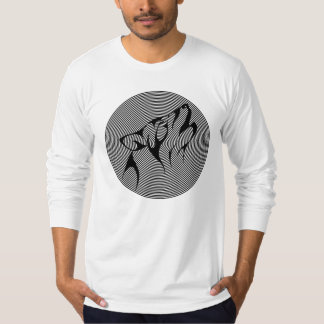 BLACK AND WHITE TRIBAL WOLF DESIGN T-Shirt