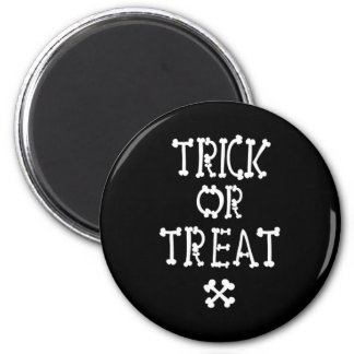 Black And White Trick Or Treat Magnet