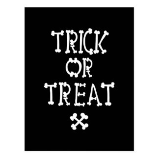 Black And White Trick Or Treat Postcard