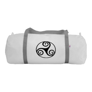 Black and White Triskelion Gym Bag