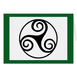 Black and White Triskelion or Triskele Card