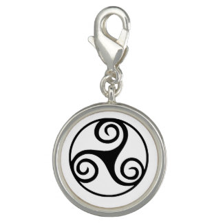 Black and White Triskelion or Triskele Charms