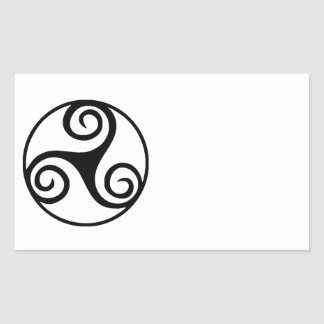 Black and White Triskelion or Triskele Sticker