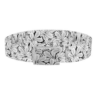 Black and white tropical plants belt