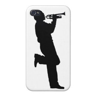 Black and White Trumpet Jazz Musician Case For iPhone 4