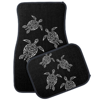 Black And White Turtles Triabal Tattoo Animal Car Mat