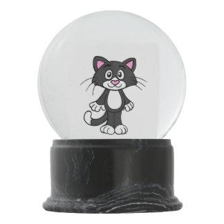 Black And White Tuxedo Cat Snow Globe